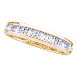 14KT Yellow Gold 0.15CTW DIAMOND FASHION BAND