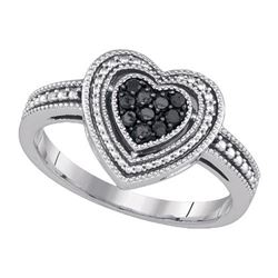 925 Sterling Silver White 0.27CTW DIAMOND FASHION RING