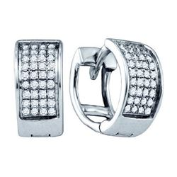 925 Sterling Silver White 0.15CTW DIAMOND LADIES MICRO-