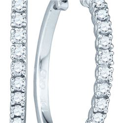 10KT White Gold 0.23CTW DIAMOND LADIES MICRO-PAVE EARRI