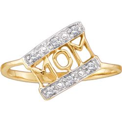 14kt Yellow Gold Womens Round Diamond Mom Mother Accent