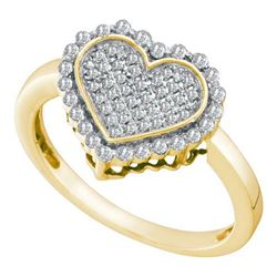 10K Yellow-gold 0.28CT DIAMOND FASHION HEART RING