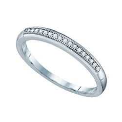 10KT White Gold 0.05CTW DIAMOND MICRO PAVE BAND