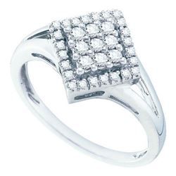 10KT White Gold 0.24CTW DIAMOND FASHION RING