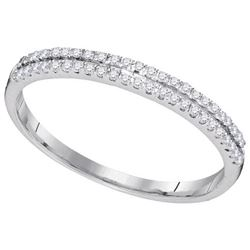 10KT White Gold 0.15CTW-Diamond FASHION BAND