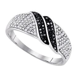 925 Sterling Silver White 0.15CT DIAMOND MICRO-PAVE RIN