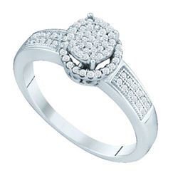 10KT White Gold 0.25CTW DIAMOND MICRO PAVE RING