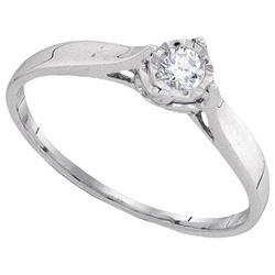 10KT White Gold 0.08CTW DIAMOND FASHOIN RING