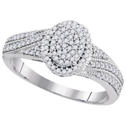 10KT White Gold 0.33CT-Diamond BRIDAL RING