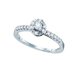 10KT White Gold 0.27CTW DIAMOND ROUND CENTER BRIDAL RIN