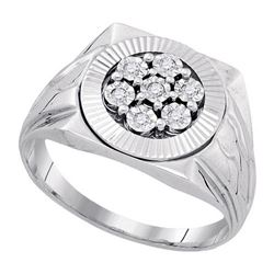 925 Sterling Silver White 0.10CT DIAMOND FASHION RING