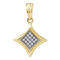 10KT Yellow Gold 0.05CTW DIAMOND FASHION PENDANT