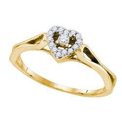 10K Yellow-gold 0.12CT DIAMOND FASHION RING