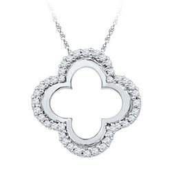 10KT White Gold 0.14CTW DIAMOND FASHION PENDANT