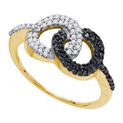 10K Yellow-gold 0.33CTW DIAMOND MICRO PAVE RING