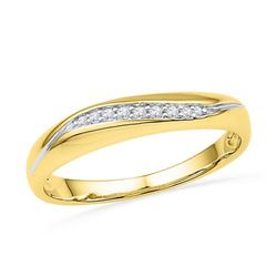 10K Yellow-gold 0.05CTW DIAMOND FASHION BAND