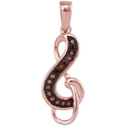 10KT Rose Gold 0.05CTW DIAMOND FASHION PENDANT