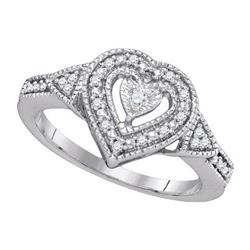 925 Sterling Silver White 0.13CT DIAMOND FASHION RING