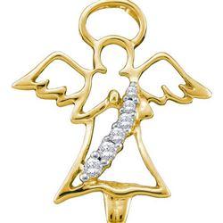 10KT Yellow Gold 0.06CTW DIAMOND FASHION PENDANT
