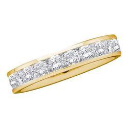 14KT Yellow Gold 0.15CTW ROUND DIAMOND MACHINE SET BAND