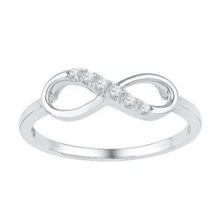 10KT White Gold 0.05CTW DIAMOND FASHION RING
