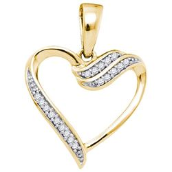 10K Yellow-gold 0.06CTW DIAMOND HEART PENDANT