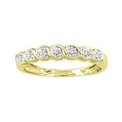 10KT Yellow Gold 0.08CTW ROUND DIAMOND LADIES CLUSTER B