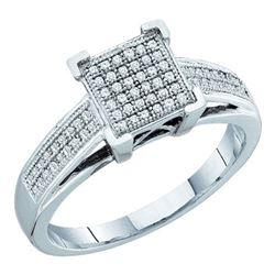 10KT White Gold 0.20CTW DIAMOND MICRO PAVE RING