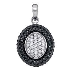 10K 925-Sterling 0.20CTW DIAMOND MICRO-PAVE PENDANT