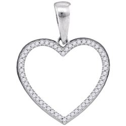 925 Sterling Silver White 0.15CT DIAMOND MICRO PAVE HEA