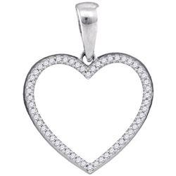 925 Sterling Silver White 0.15CT DIAMOND MICRO PAVE HEA