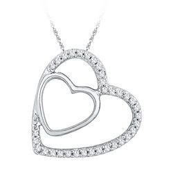 10KT White Gold 0.12CTW DIAMOND FASHION PENDANT