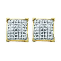 10KT Yellow Gold 0.15CT DIAMOND MICRO-PAVE EARRINGS
