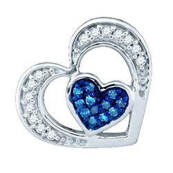 14K White-gold 0.35CTW BLUE DIAMOND MICRO PAVE RING