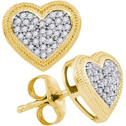 10K Yellow-gold 0.20CTW DIAMOND MICRO-PAVE EARRING