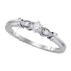 925 Sterling Silver White 0.15CT DIAMOND FASHION RING