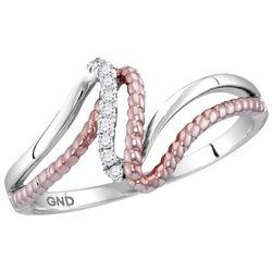 10kt Two-tone Gold Womens Round Natural Diamond Rope Ro