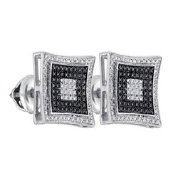 925 Sterling Silver White 0.12CT DIAMOND MICRO-PAVE EAR