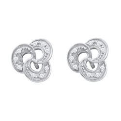 10KT White Gold 0.06CTW DIAMOND FASHION EARRING