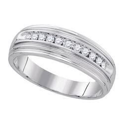 925 Sterling Silver White 0.25CTW DIAMOND FASHION BAND