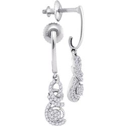 10KT White Gold 0.20CTW DIAMOND MICRO-PAVE EARRINGS
