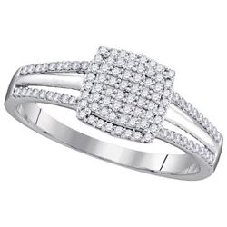 10KT White Gold 0.25CTW DIAMOND MICRO-PAVE BRIDAL RING