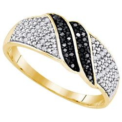 925 Sterling Silver Yellow 0.15CT DIAMOND MICRO-PAVE RI