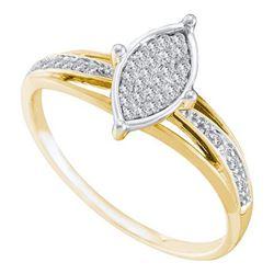 10K Yellow-gold 0.10CT DIAMOND FASHION BRIDAL RING