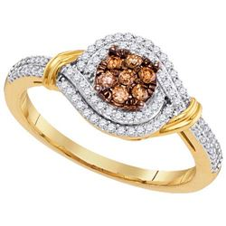 10K Yellow-gold 0.33CTW-Diamond MICRO-PAVE RING