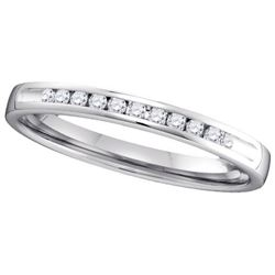 14KT White Gold 0.15CT DIAMOND MACHINE SET BAND