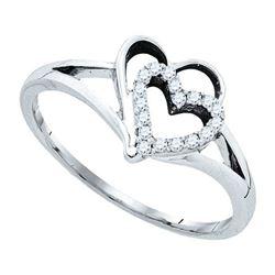 10K White-gold 0.12CT DIAMOND FASHION RING