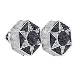 925 Sterling Silver White 0.19CTW DIAMOND MICRO-PAVE EA