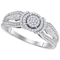 10KT White Gold 0.25CTW-Diamond MICRO-PAVE RING