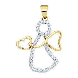 10K Yellow-gold 0.12CTW DIAMOND FASHION PENDANT